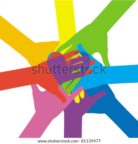 Together - stock vector