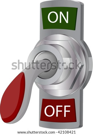 toggle-switch - stock vector
