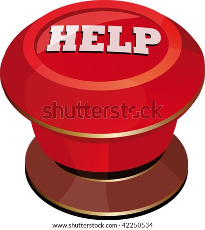 toggle-switch  red help - stock vector