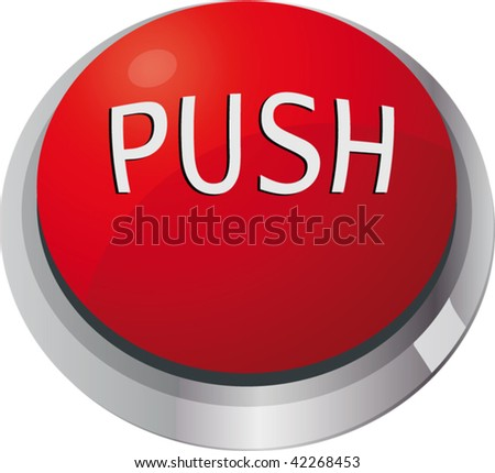 toggle-switch red push - stock vector