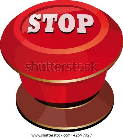 toggle-switch red stop - stock vector