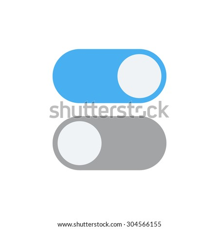 Toggle Switch Vector Icon On Off Stock Photo Photo Vector