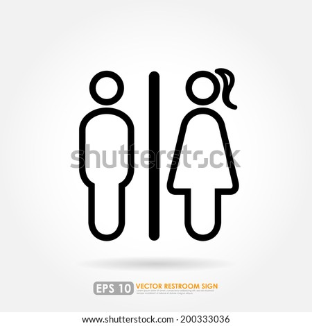 Bathroom Signs Eps toilet sign stock images, royalty-free images & vectors | shutterstock
