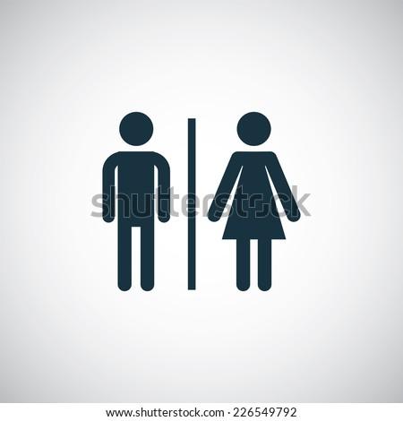 toilet icon on white background - stock vector