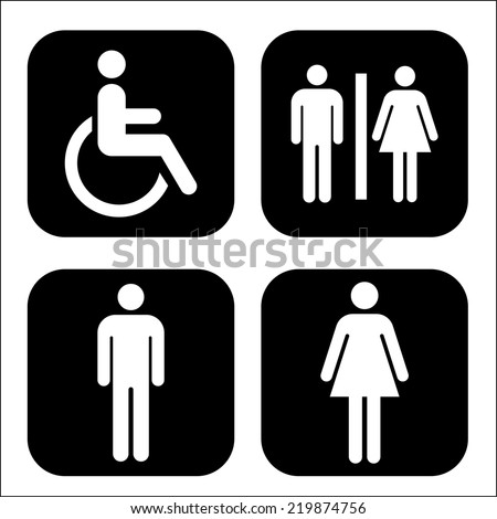Toilet Icon- vector - stock vector