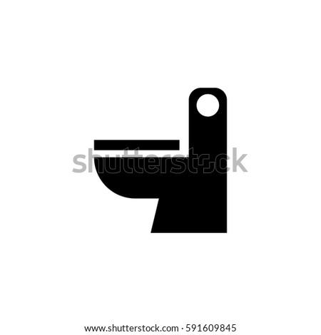 Toilet icon vector. Toilet Icon Vector Stock Vector 591609845   Shutterstock
