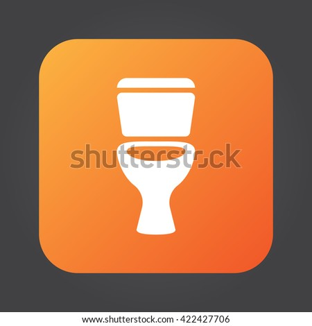 Toilet icon vector  solid color logo illustration  pictogram isolated on  black. Toilet Icon Vector Solid Logo Illustration Stock Vector 422427715