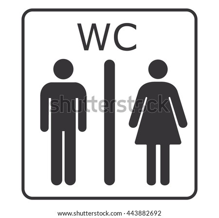Toilet IconWC SignRestroom Sign IconVector Illustration