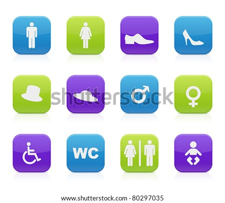 toilet icons - stock vector