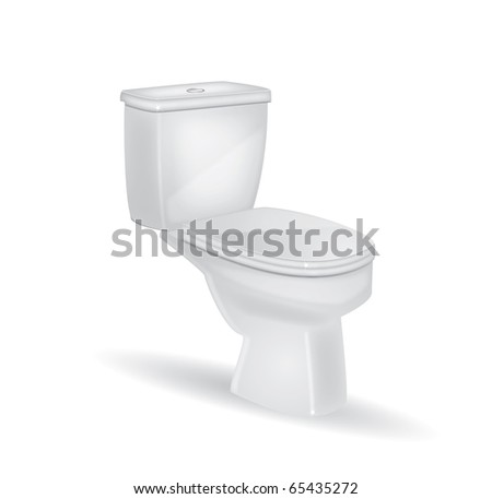 Toilet on a isolated background,vector - stock vector