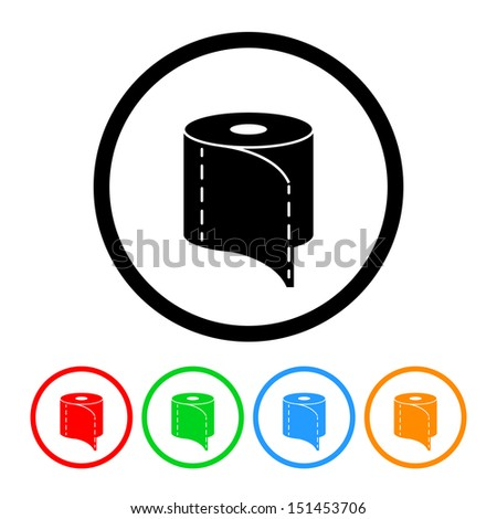 Toilet Paper Icon - stock vector