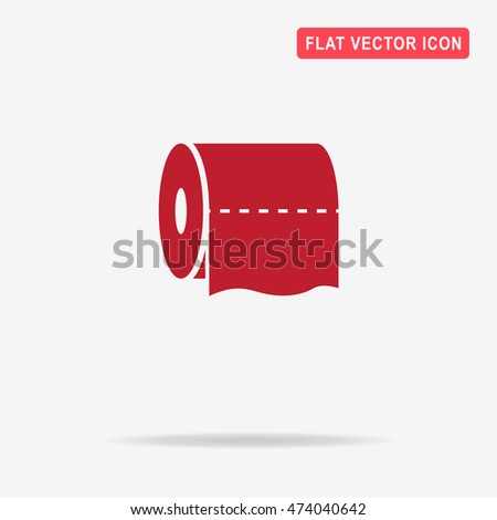 Toilet paper icon. Vector concept illustration for design.