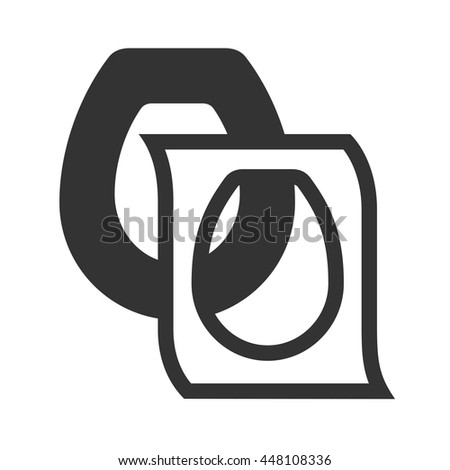 black and white toilet seat. Toilet seat cover  Disposable toilet icon isolated on white background Individual Seat Cover Stock Images Royalty Free Vectors
