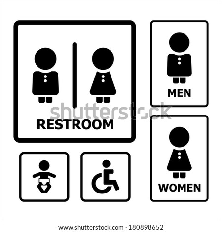 Toilet Sign - stock vector