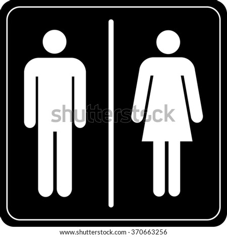 Toilet sign  man and lady. Male Female Restroom Symbol Icon Vector Stock Vector 261097922
