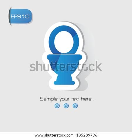 Toilet sign,vector - stock vector
