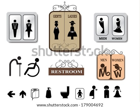 Bathroom Signs Vector Free toilet sign stock images, royalty-free images & vectors | shutterstock