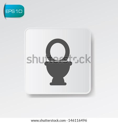 Toilet symbol,vector - stock vector