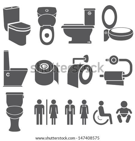 toilet vector set  toilet icons set. Toilet Vector Set Toilet Icons Set Stock Vector 147408575