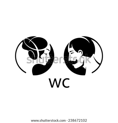 Toilet vector sign. Toilet Label Stock Photos  Royalty Free Images   Vectors
