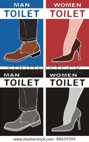 Toilet, WC. man & women