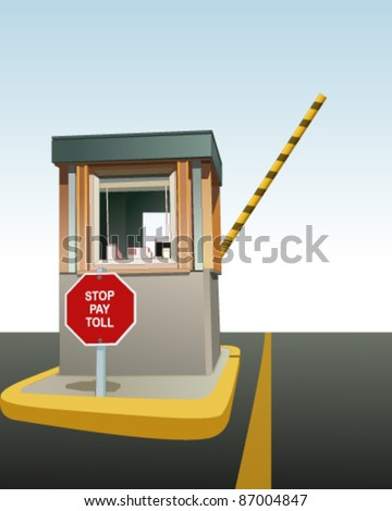 Toll booth - stock vector