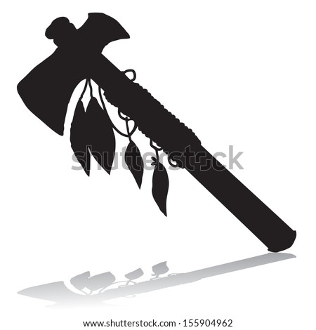 Tomahawk silhouette - stock vector