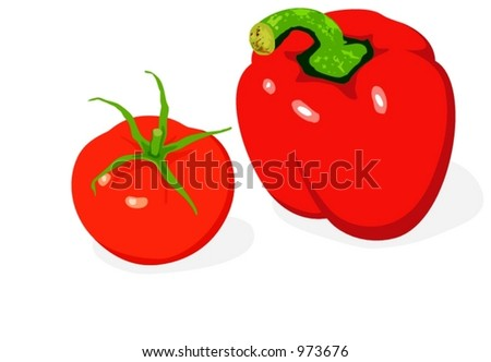 Tomato & Pepper illustration