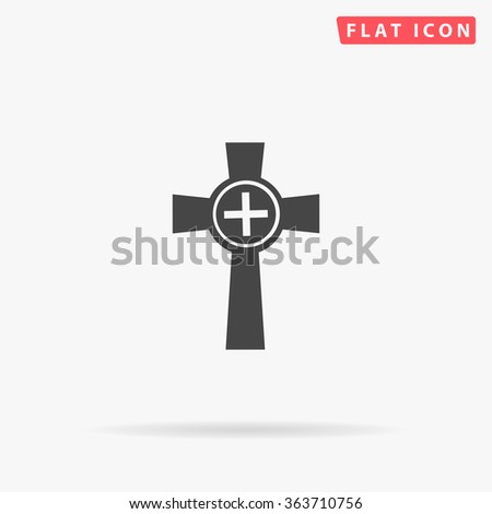 Tombstone Icon Vector.  - stock vector