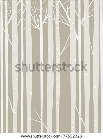 Tonal Trees - stock vector