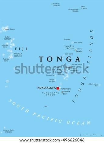 Tonga Map Stock Images RoyaltyFree Images Vectors Shutterstock - Tonga map