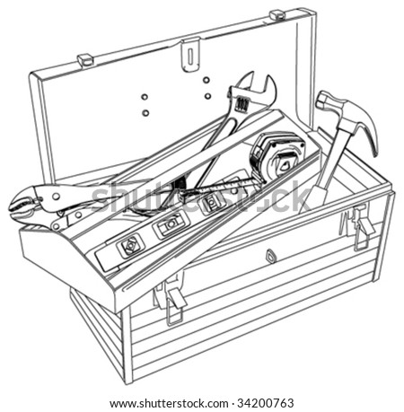 Tool Box - stock vector