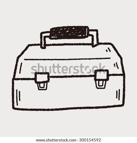 tool box doodle - stock vector