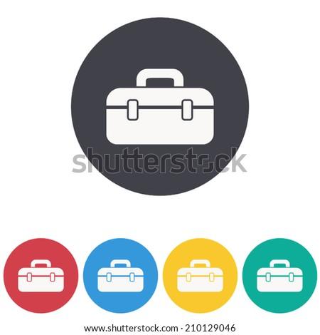 tool box icon,vector illustration - stock vector