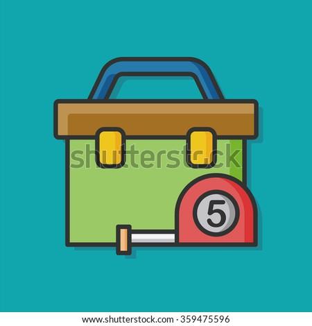 tool box vector icon - stock vector
