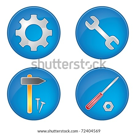Tool icons collection vector illustration color set - stock vector