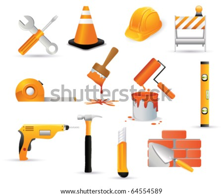 Tool icons. Vector - stock vector