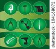 tool kit icons, set of tools icons, - stock vector