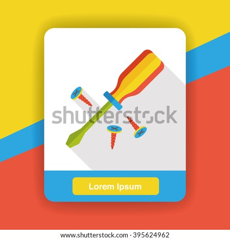 tool screwdrivers flat icon - stock vector
