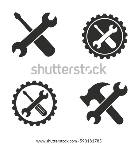 tool vector icons set black illustration stock vector royalty free