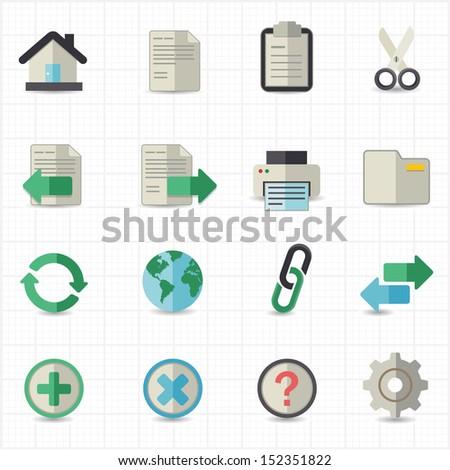 Toolbar website icons - stock vector