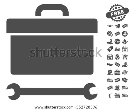 toolbox clipart black and white. toolbox icon with free bonus clip art vector illustration style is flat iconic symbols clipart black and white