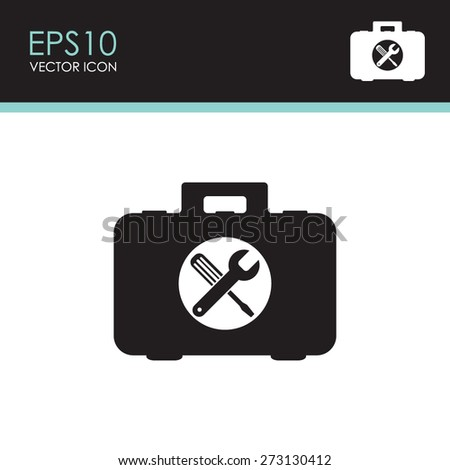 Toolbox vector icon. - stock vector