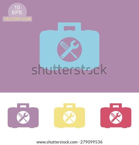 Toolbox vector icon. - stock vector