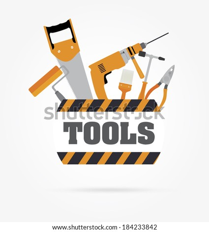 Tools design over gray background, vector illustration