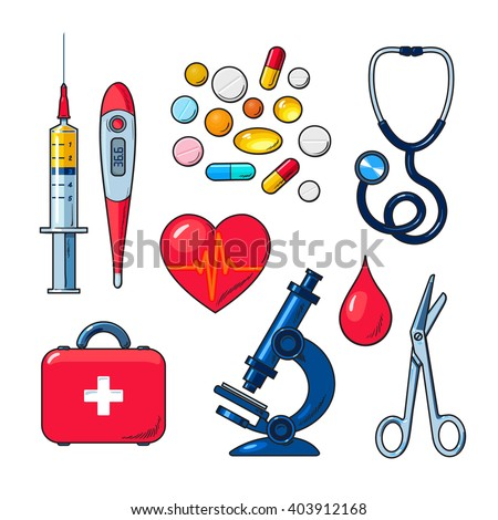 tools medical research icons on white stock vector 403912168 rh shutterstock com vector medical transport vector medical term