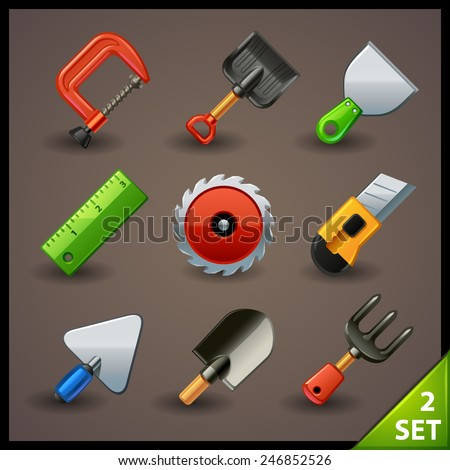 tools icon set-2 - stock vector
