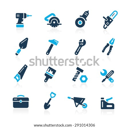 Tools Icons // Azure Series - stock vector