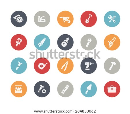 Tools Icons // Classics Series - stock vector