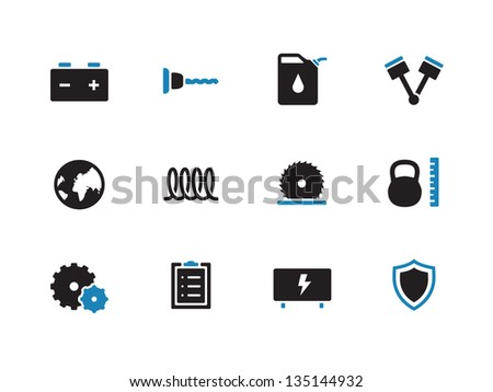 Tools icons on white background. Vector illustration. - stock vector